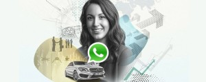 Marketingbild der ersten Daimler WhatsApp Personalmarketingaktion - Martin Maas - Innovation - Stuttgart - Employer Branding